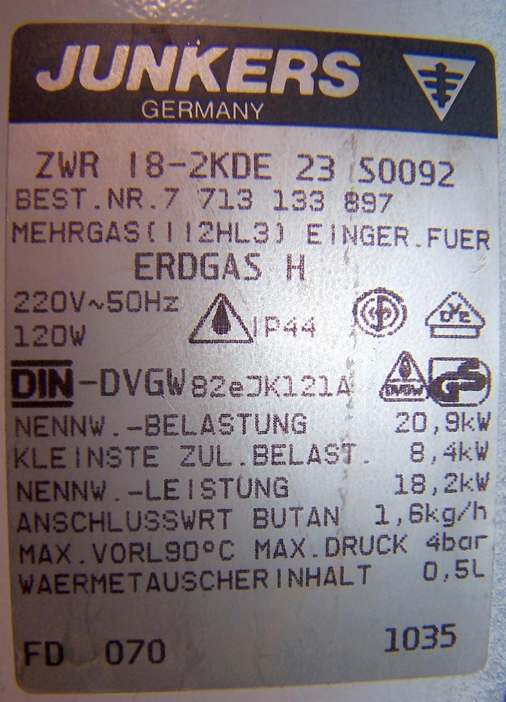 Junkers ZWR 18-2KE - Brak cyrkulacji CO - zaw�r tr�jdro�ny nie dzia�a, pompa OK