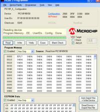 PIC18F45K50 - Nie mogę zaprogramować z PICkit2 - ochrona kodu?