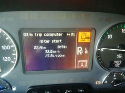 Mercedes Actros MP3 1844 - Kontrolka, komunikat od zawieszenia