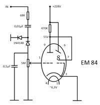 Bambino 3 WG 263 - Wskaźnik EM84 jako poziom głośności/sygnału