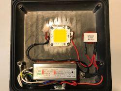 Naświetlacz LED 20W - naprawa i modernizacja