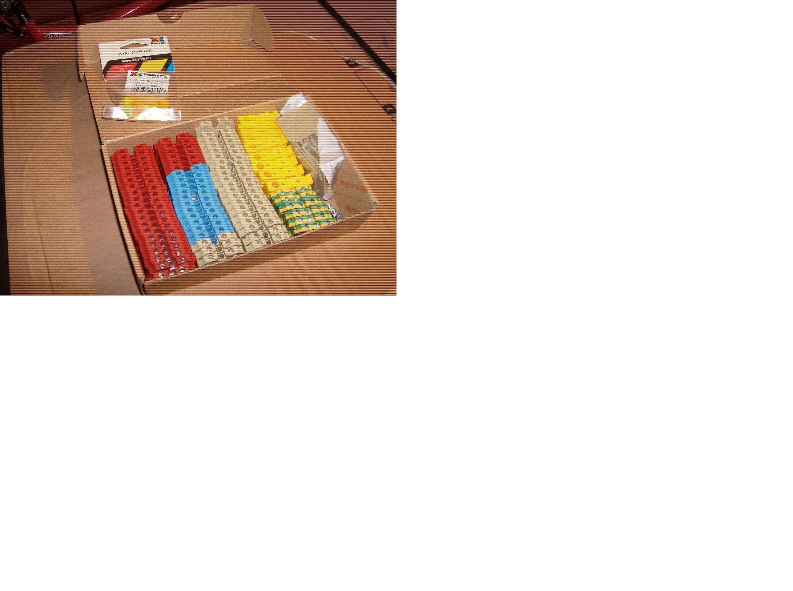 [Sprzedam] Z��czki �rubowe Weidmuller serii SAK komplet kolorow.