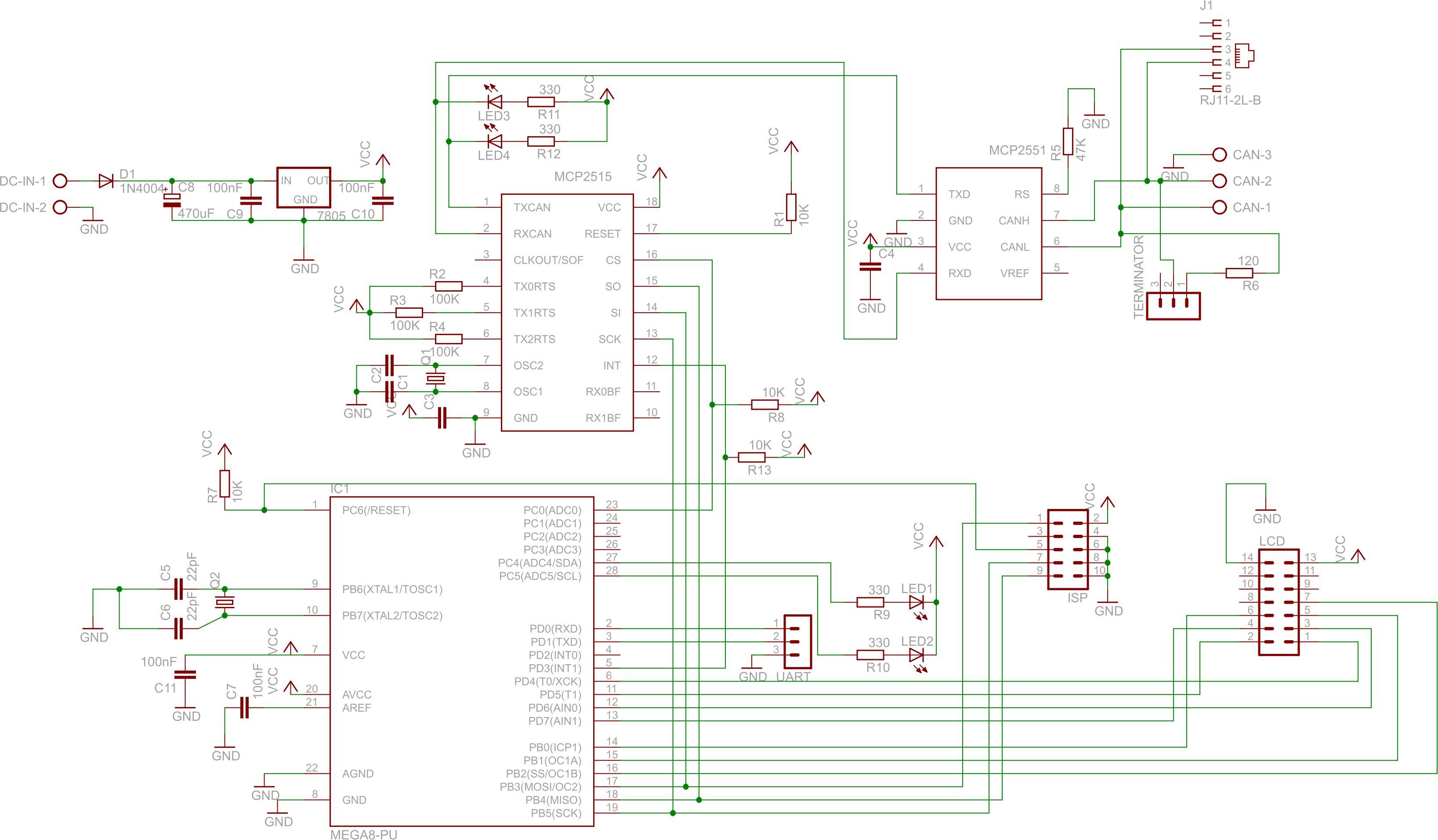 Atmega + CAN - poprawość schematu - elektroda pl