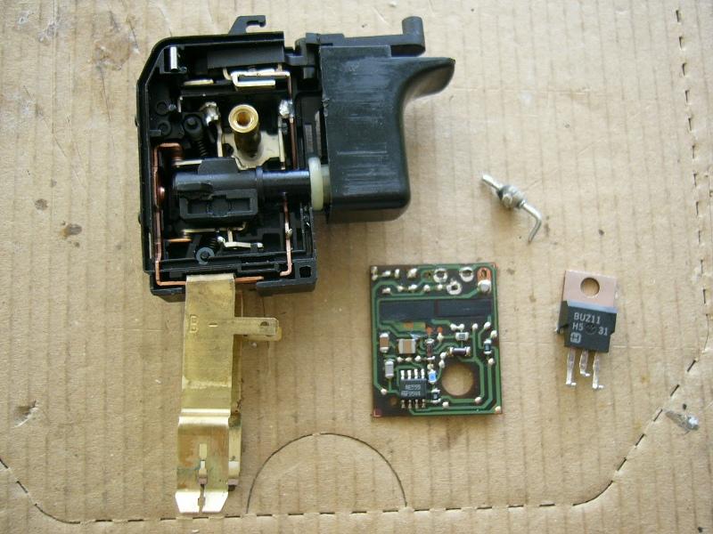 Bosch PSR 9,6 VES-2  Uszkodzona regulacja obrot�w.