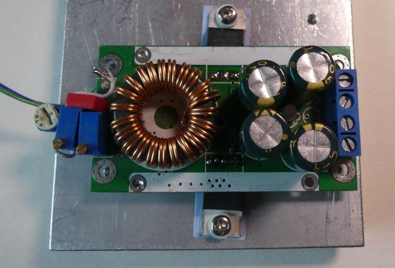 Lepsze chłodzenie modułu przetwornicy DC/DC na XL4016