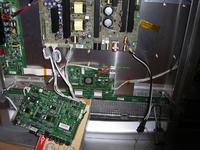 Schneider P42-5000 po wymianie YSUS paski pionowe i poziome