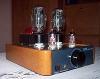 Lampowy wzmacniacz słuchawkowy OTL 2 x E88CC + 2 x 6N13S