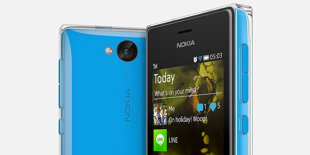 "Nokia Asha 503 - niedrogi smartphone z 3"" ekranem, Wi-Fi, 5 Mpix i Asha OS"