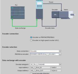 Sinamics v90 6SL3200-0AE40-0AA0 - jak zdefiniować enkoder