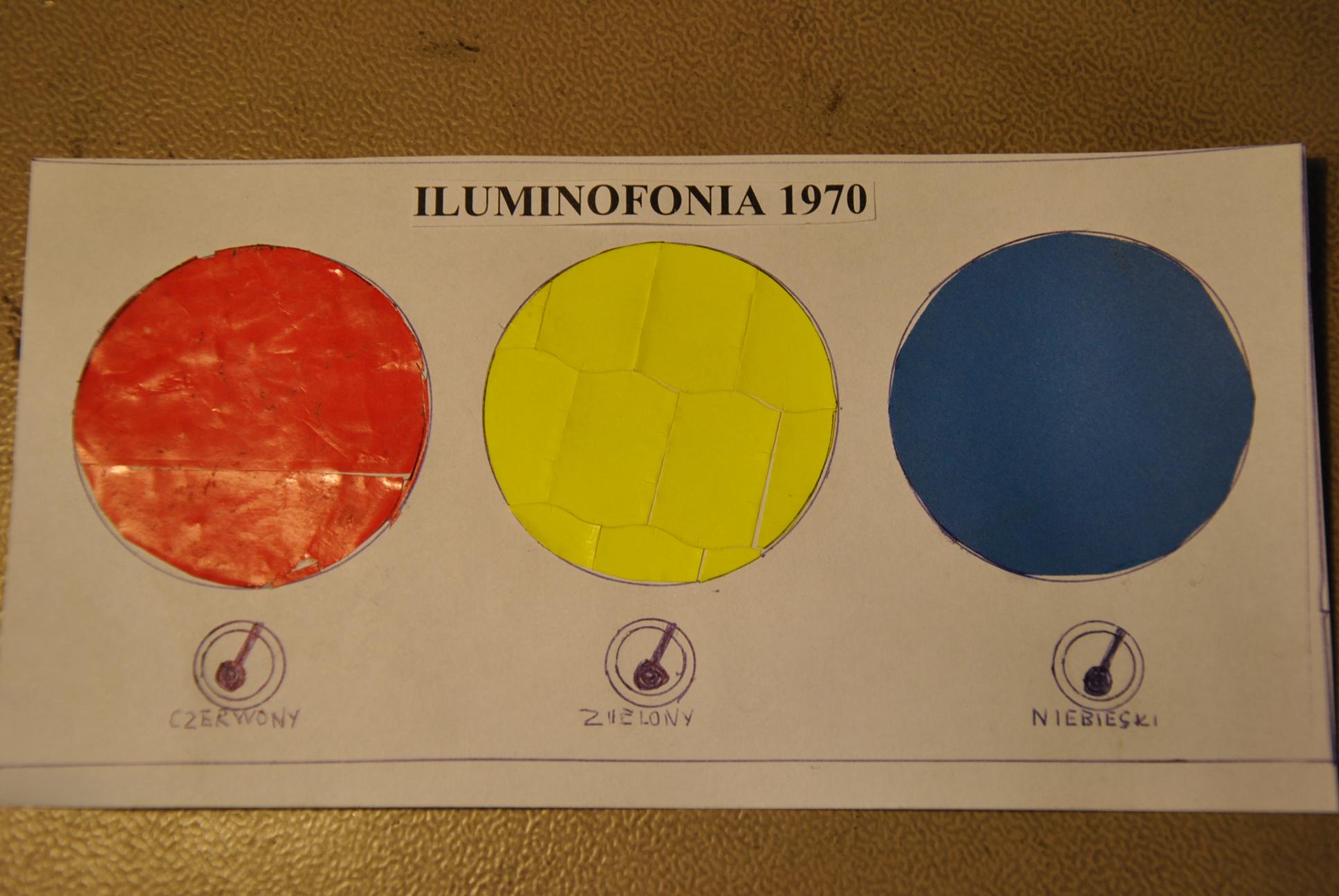 Migaj�ce kolorowe lampy w takt muzyki (Iluminofonia z lat 70)