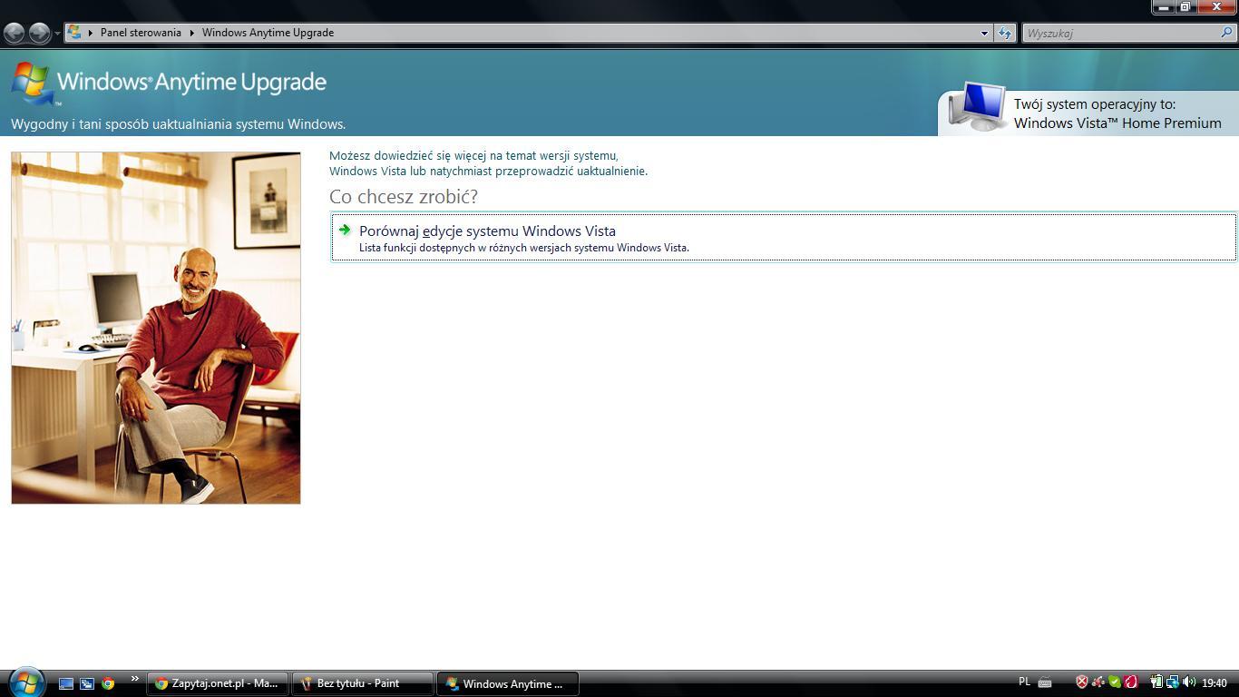 HP Pavilion G61 415 - Windows vista home premium i anytime upragde