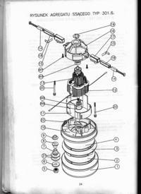 schemat silnika Zelmer typ 301 do odkurzacze typ 700