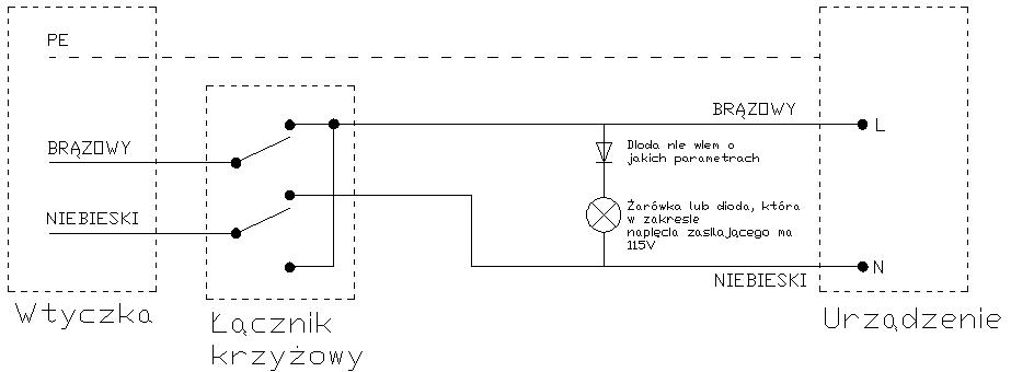 Wska�nik przewodu fazowego do monta�u w rozdzielce.