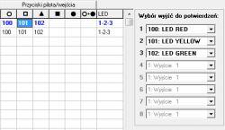 Pilot APT-100 - odpowiedź LED centrali Integra wrl 128