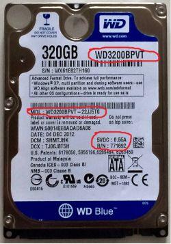 Przekładanie elektroniki dysku WD3200BPVT. Na jakie numery zwrócić uwagę?