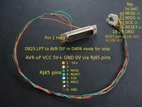 Programowanie AVR poprzez ISP (DAPA z uisp) z optoizolacją LPT