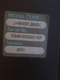 Samsung LH46MSPLBB/ - Check cooling system. Jak wejść w service mode?