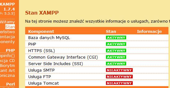 XAMPP blad po instalacji, nie mo�na zainstalowa� Joomli