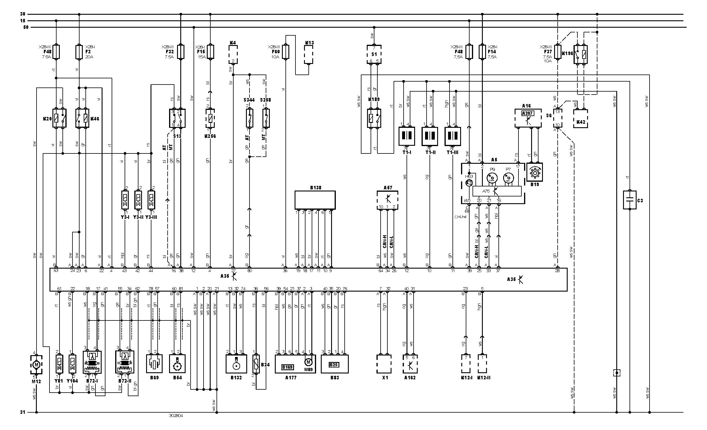 Toyota yaris 1.0 vvT-i - Rozpiska zasile� sterownika silnika