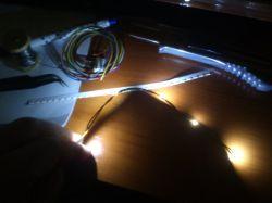 Mikrooświetlenie mikrochoinki mikrodiodami