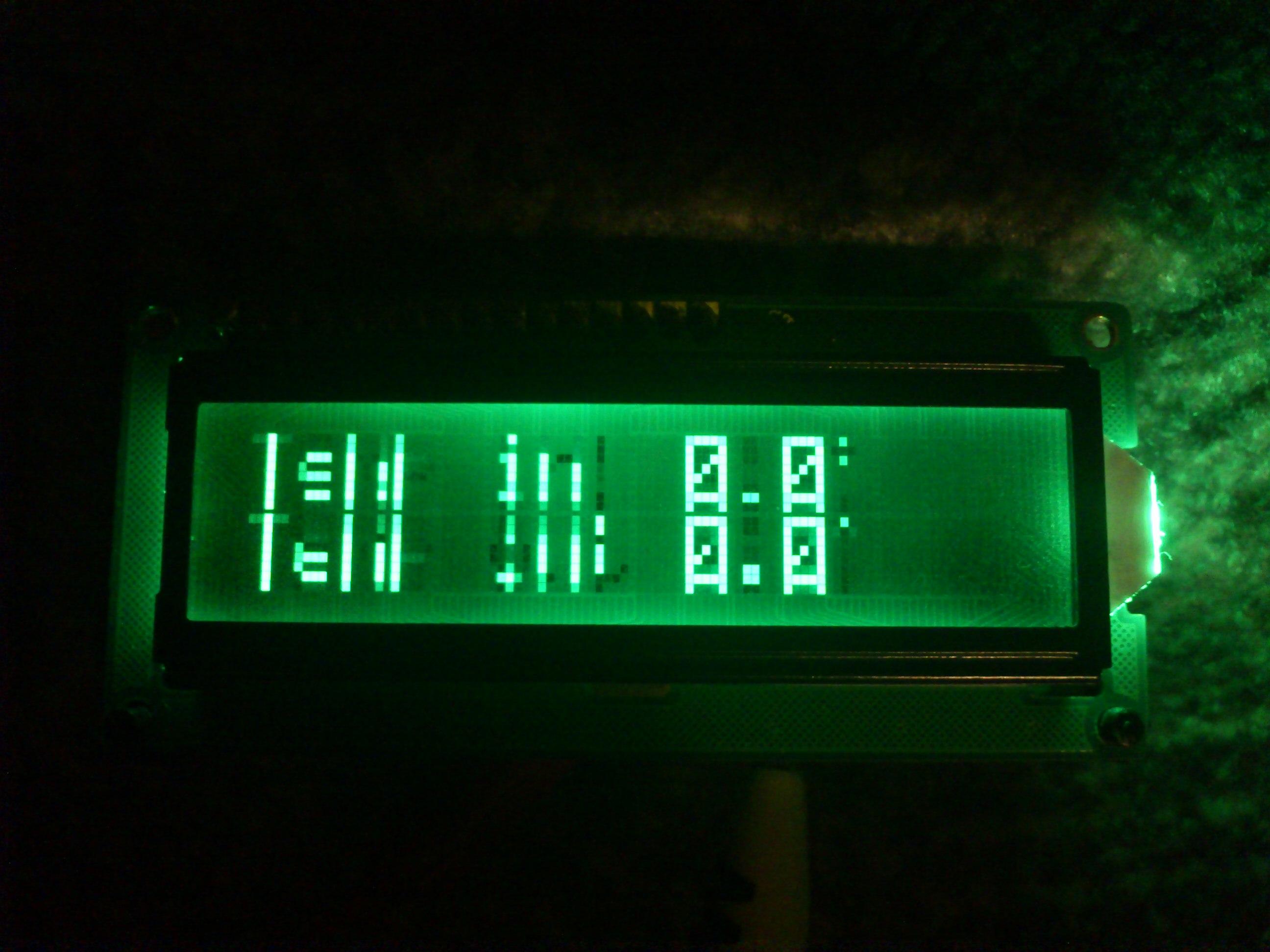 Wy�wietlacz 2x16 HD44780. Uszkodzoony?