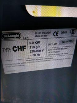 Piecyk gazowy na butle delonghi CHF instrukcja lub informacje jak użytkować go
