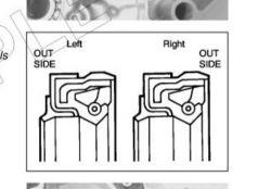 2T z biegami - uszczelniacz wału korbowego od strony sprzęgła