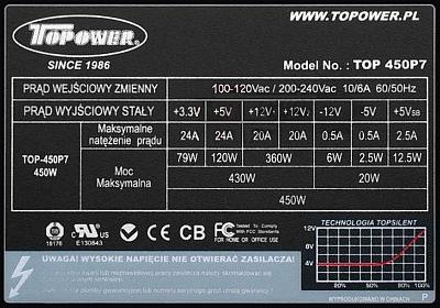 Topower model: TOP 450P7 startuje na chwilkę...