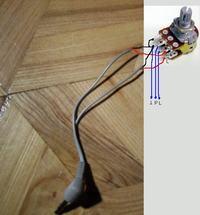 Potencjometr na kablu stereo
