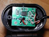 Chińska latarka czołowa z biedronki. LED 3W - szukam info o sterowniku.