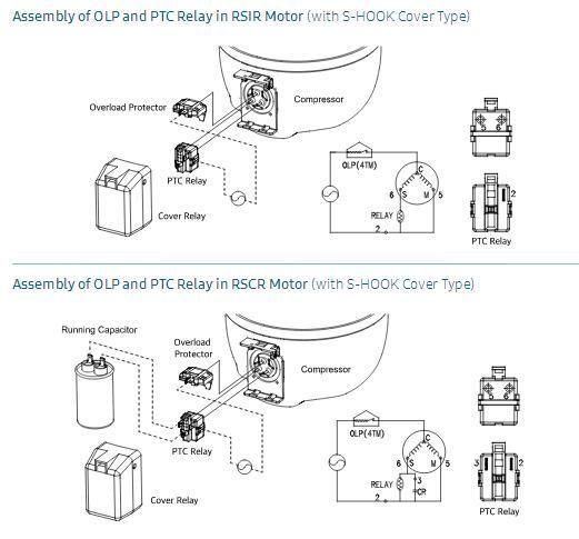 Samsung sprężarka - Rezystancja uzwojenia sprężarki EQ4A5H-L2X.