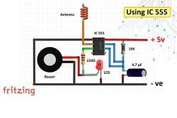 Detektor napięcia Projekt płytki PCB