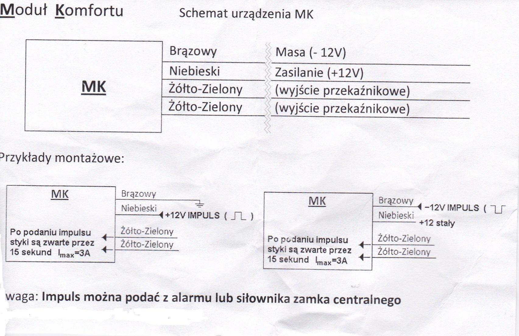 Skoda Fabia Kombi 2003 2,0 - Modu� domykania szyb