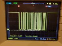 Tłumiony sygnał UART doprowadzany do modułu ESP8266