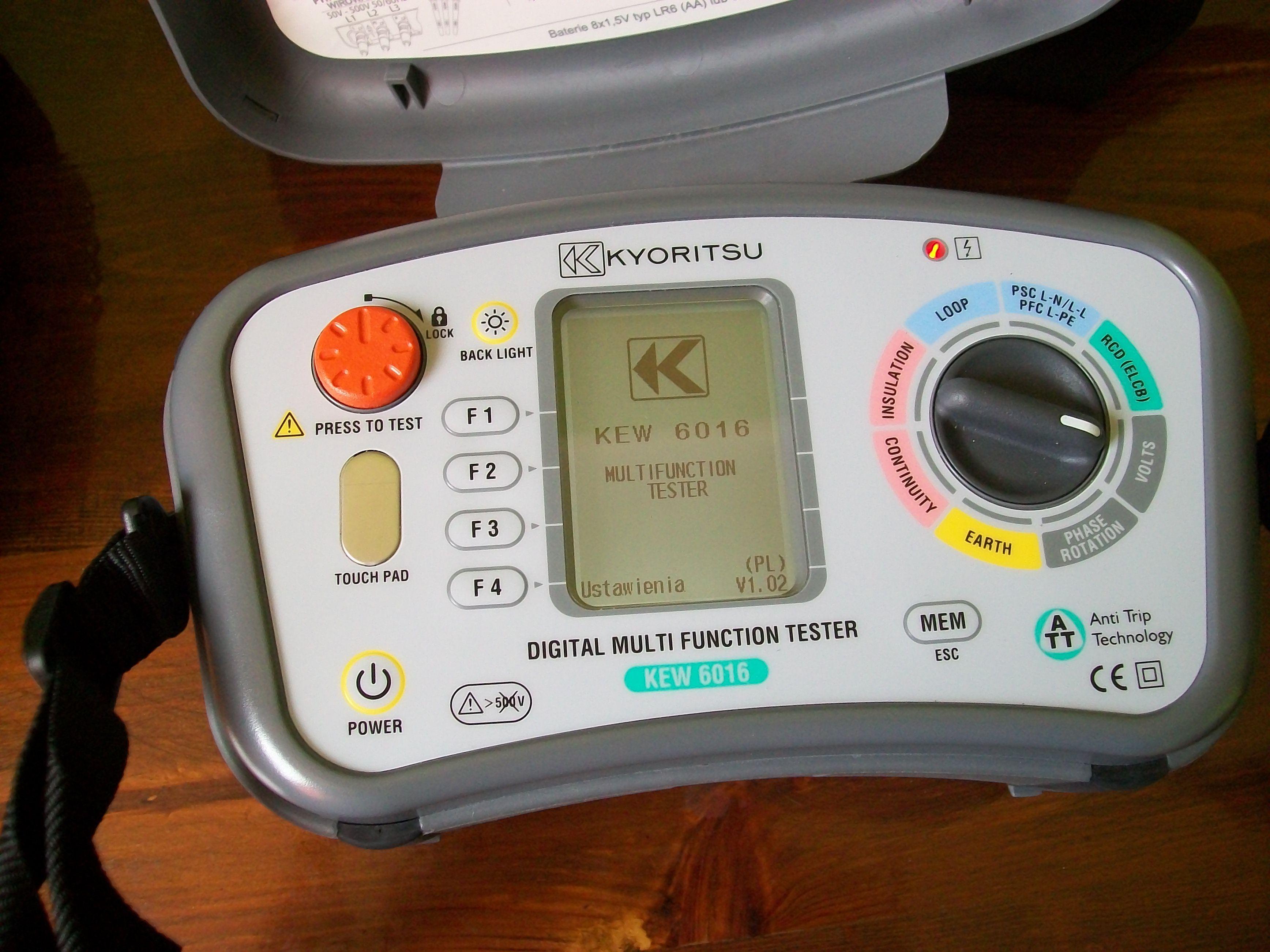 [Sprzedam] Kyoritsu KEW 6016 wielofunkcyjny miernik inst elektrycznych