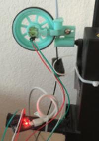 Czujnik prędkości podawania filamentu w drukarce 3D