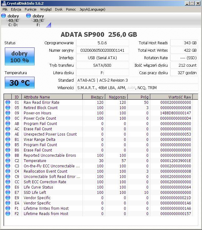 """ADATA 2,5\ - """"Dysk nie jest sformatowany..."""" w u�ywanym SSD"""