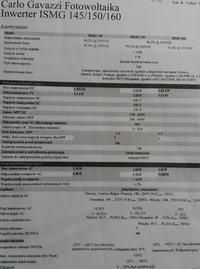 CarloGavazzi ISMG160 3 x MPPT Od 100V 6kW Inwerter
