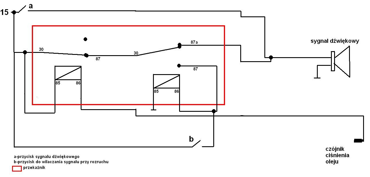 Bizon ZO56 - sygna� d�wiekowy zaniku ci�nienia oleju-potrzebny schemat