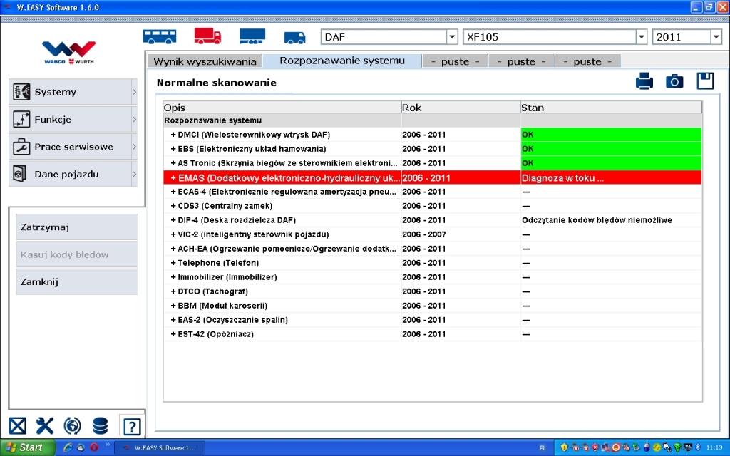 Bardzo dobra Urządzenie Diagnostyczne WABCO WURTH - elektroda.pl JB51