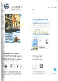HP 100 color mfp 175wnw - Wydruk z drukarki - pasek na �rodku + na boku