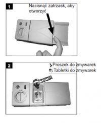 Amica ZWM 428WED - dozowanie detergentu