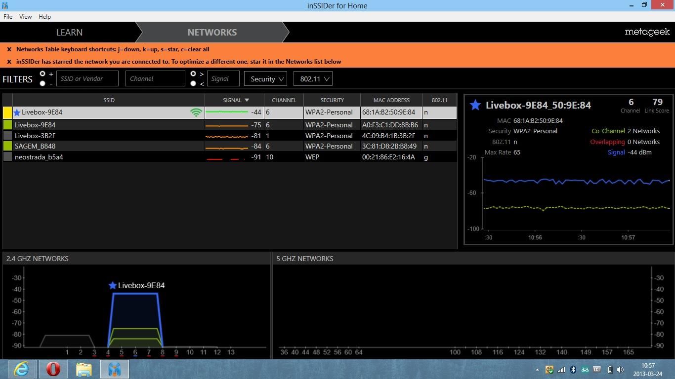 Livebox 2.0, Windows 8 - Ograniczona sie� WiFi