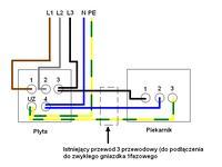 Podłączenie płyty indukcyjnej i piekarnika elektrycznego