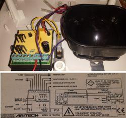 Podłączenie sygnalizator Aritech AS390 do centrali integra