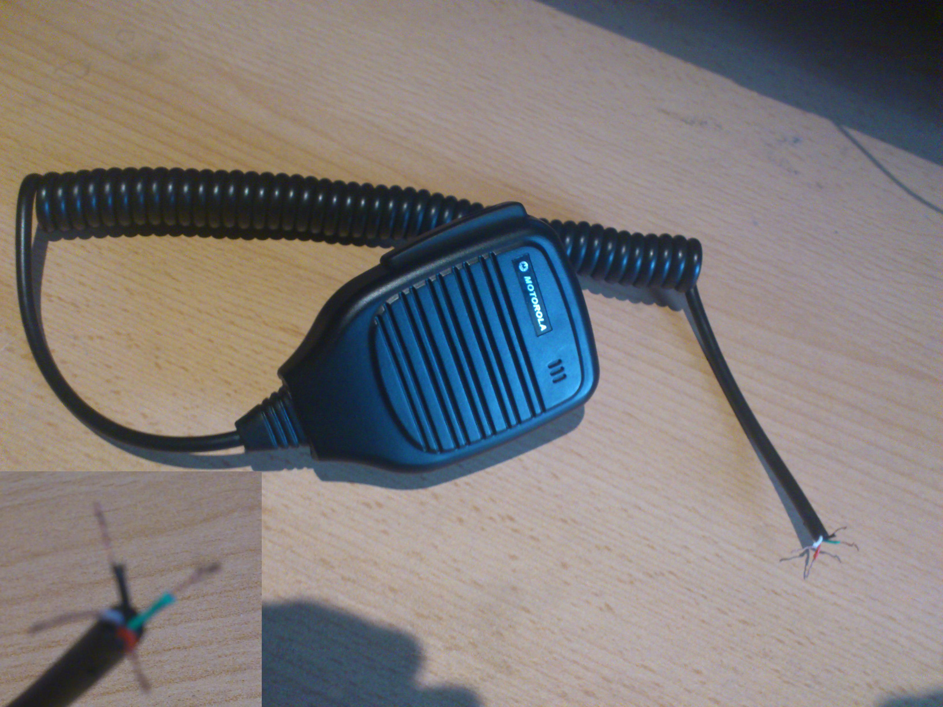 Przer�bka wtyczki mikrofonog�o�nika Motorola na wej�cie kenwood k