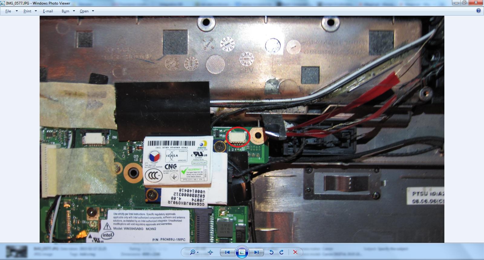 Toshiba Satellite A300-1EG - Jak wymienic tasme kamery w Toshiba A300 ?