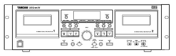 Instrukcja Tescam 202MK4 Duble Auto Reverse Cassette Deck EN