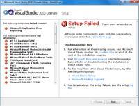 Visual Studio 2010 Setup Failed