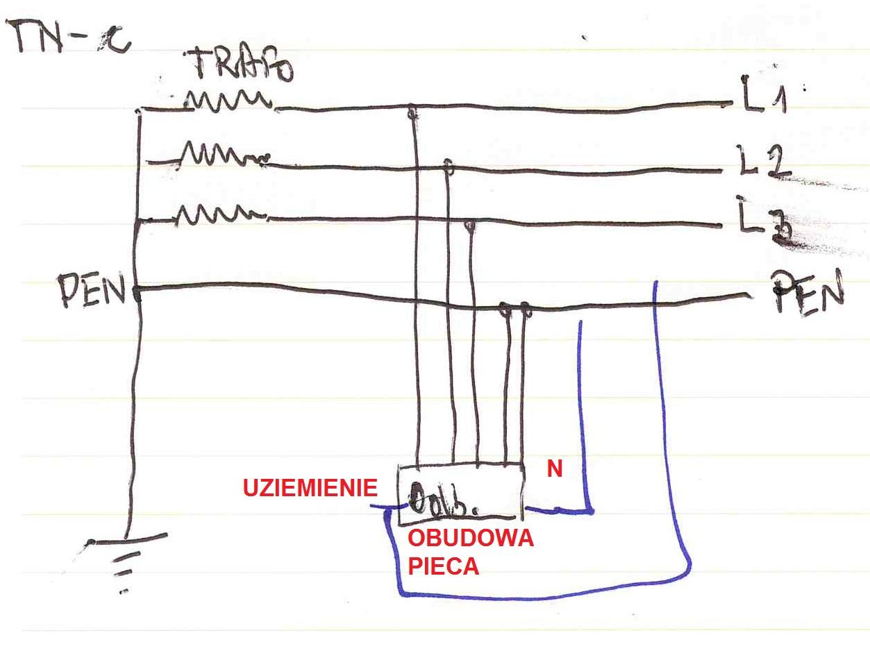 piec elektrodowy - zabezpieczenie pora�eniowe